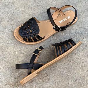 Soda Shoes - SODA Black Women's Strap Huarache Sandals